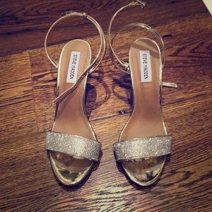 Steve Madden gold high heels